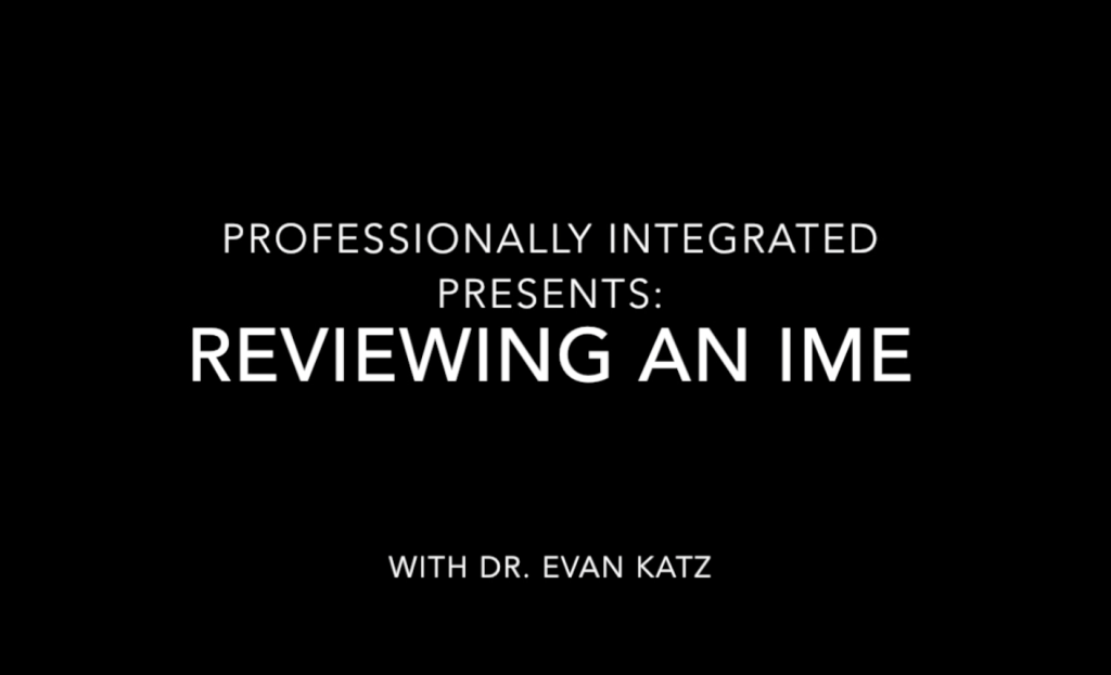 Reviewing An IME Webinar