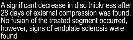 Disc Pressure and Compression.